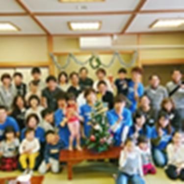 クリスマス会での集合写真